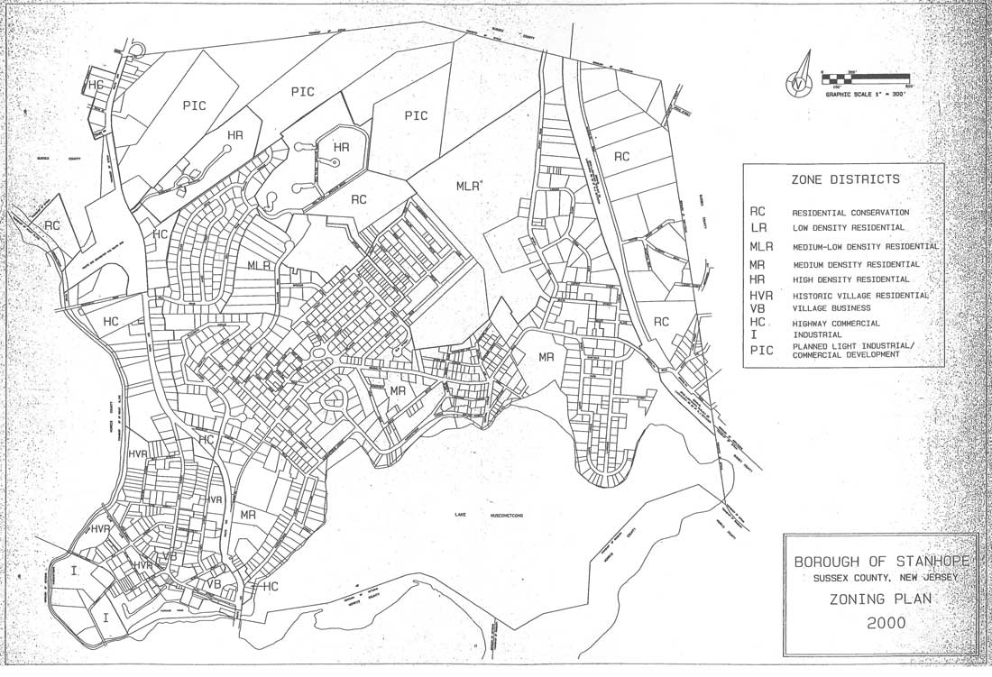 Stanhope NJ Zoning Map